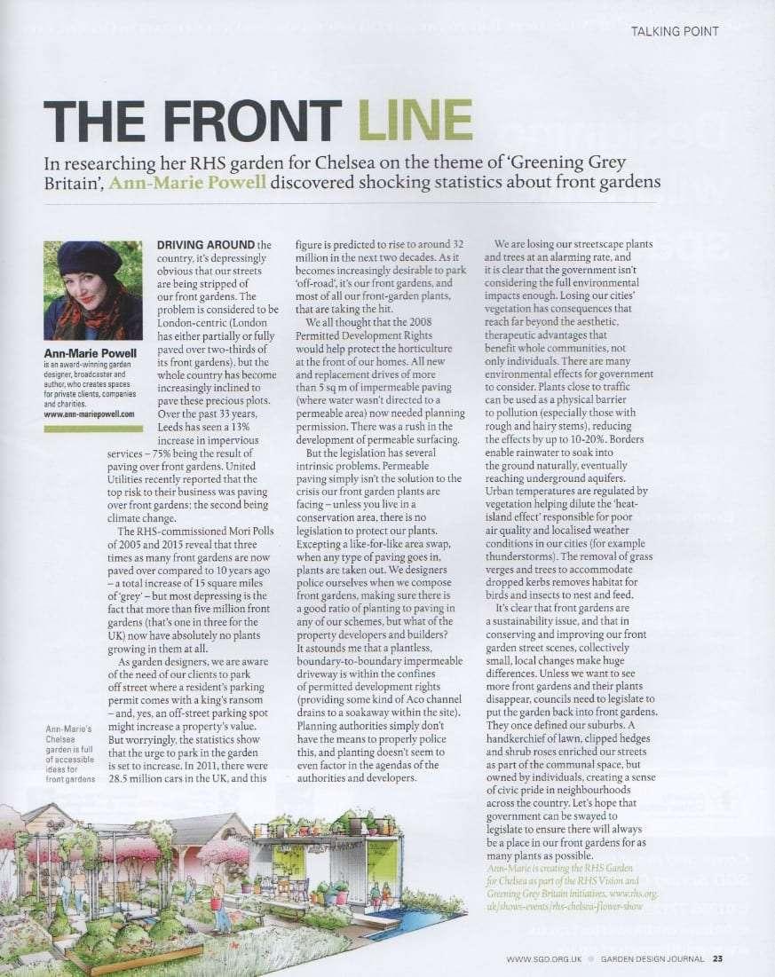 Ann marie featured in the garden design journal ann for Garden design journal