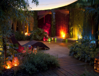 Uplighting Bohemian Garden