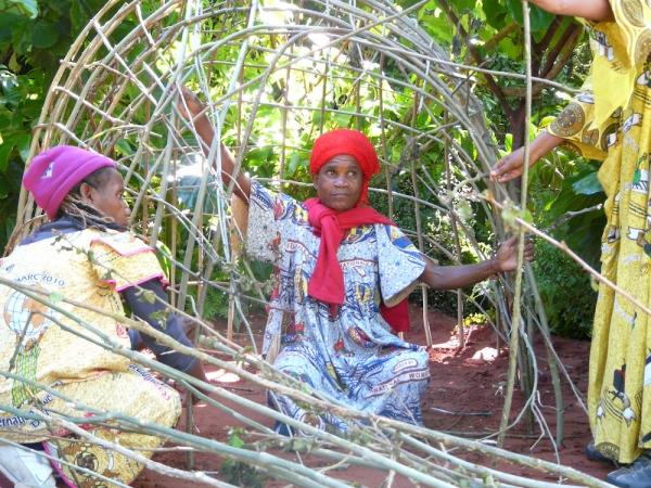 Detail of woven mongulu shelter