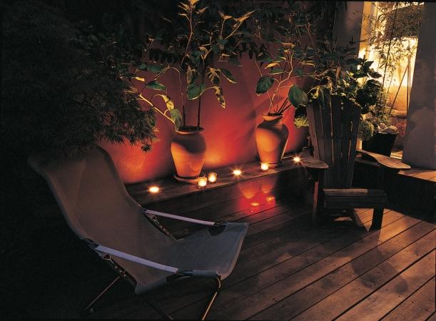 Candlelit deck