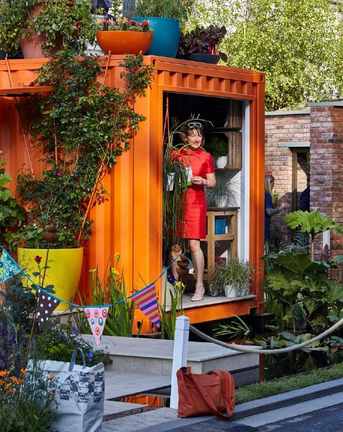 Award winning designer Ann-Marie Powell in RHS Chelsea Flower Show garden