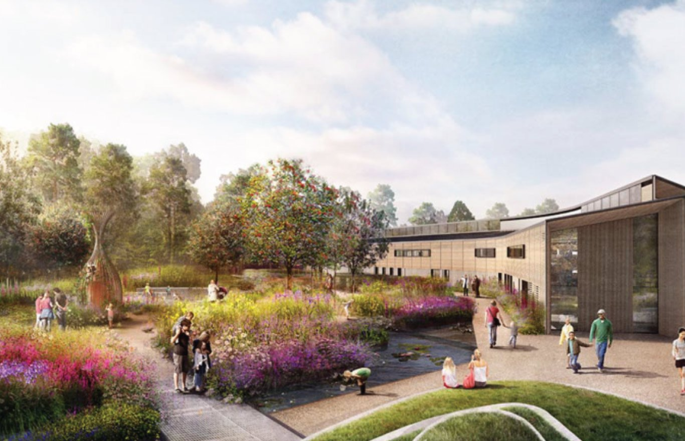 computer generated image of RHS Wisley Wildlife garden