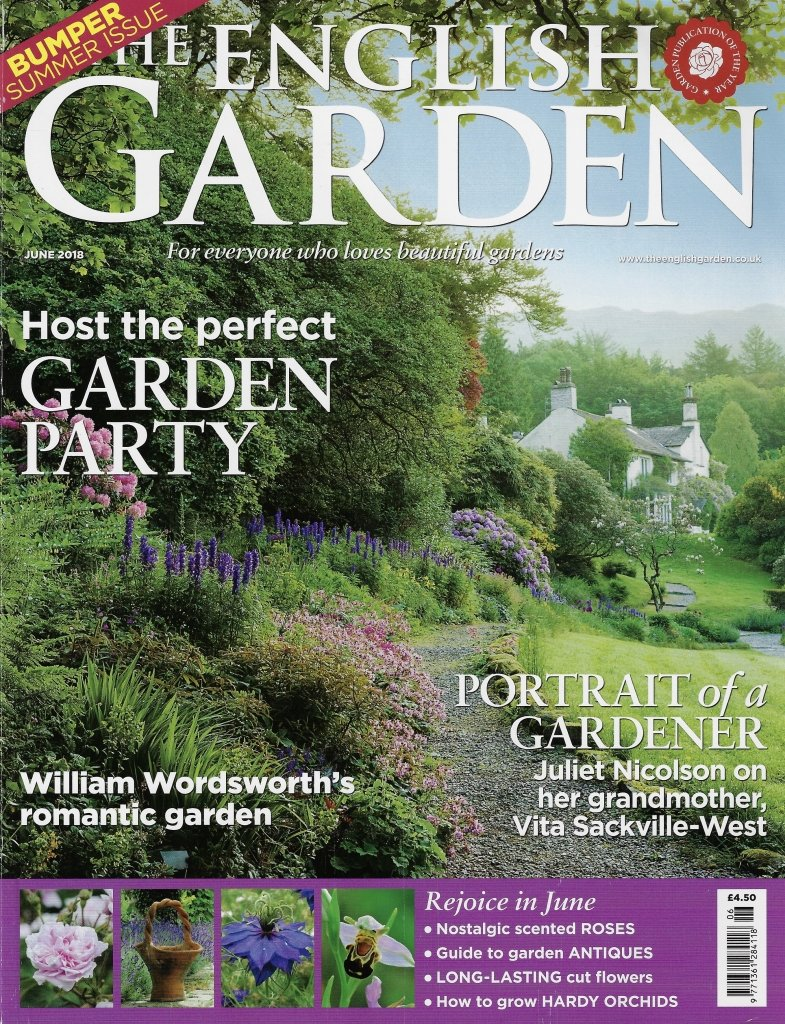 cover of The English Garden featuring website article on RHS Hampton Court Countryfile show garden