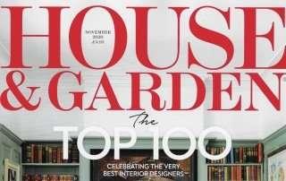 House and Garden November 2020 Cover Ann-Marie Powell Top Fify Garden Designer UK