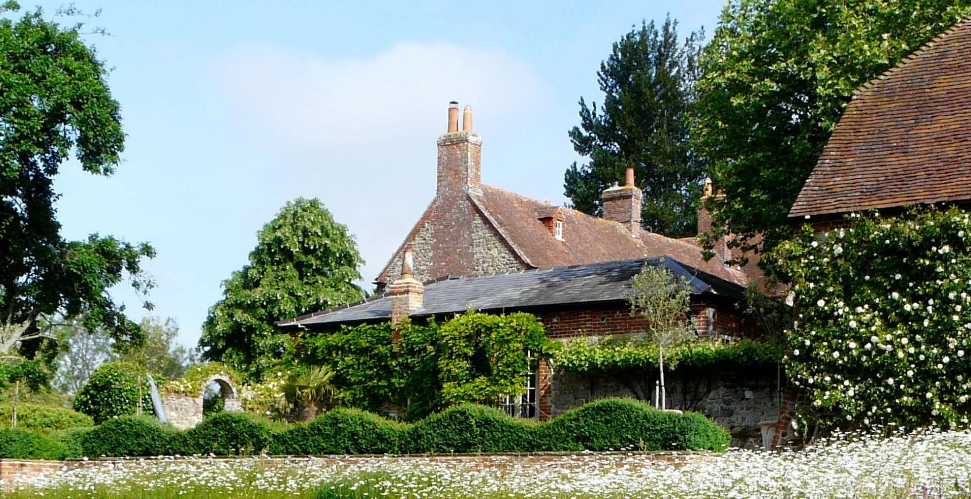 Designer Ann-Marie Powell in her Petersfield, Hampshire garden.