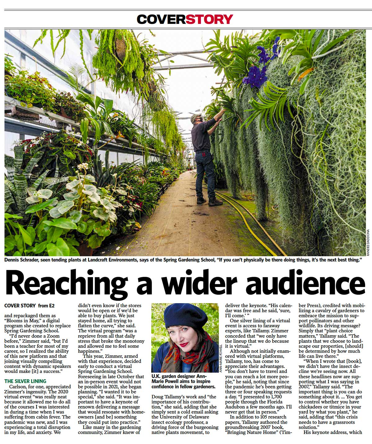 Designer Ann-Marie Powell from Petersfield, Hampshire garden features in Newsday.