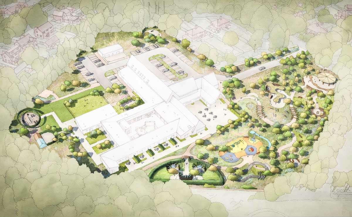 New garden Landscape at The Nook Children's Hospice in Norfolk by Ann-Marie Powell