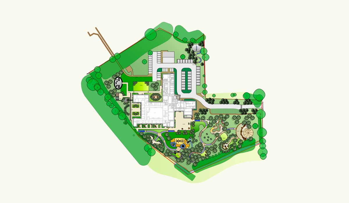 Masterplan of the new garden at The Nook, Norfolk landscape by designer Ann-Marie Powell